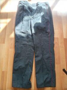 Original Grey 1980s Soviet Russian Police MVD Uniform trousers Red Pinstripe