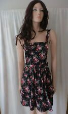 INTO Black Floral Dress Sz 8 BNWT BUY Any 5 Items = Free Post