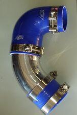 """FORD FG XR6 Turbo Intake Air Muffler Delete Pipe Blue 102mm Alloy T-Bolt 4"""" Kit"""