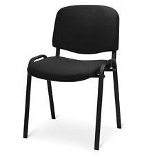 Sedia attesa colore nero tessuto impilabili da ufficio mod. venere attesa