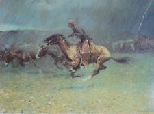 Frederick Remington, The Stampede 1908, Thomas Gilcrease Ins, Tulsa, Oklahoma.