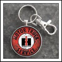 IH Motor Truck Service International Harvester Sign Photo Keychain Gift