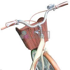 Basket Plastic Weave Adjustable Bracket Bicycle Front Handlebar