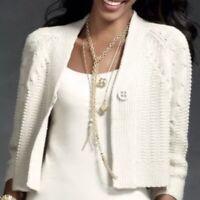 Cabi Women's Embrace Cardigan Sweater Beige One Button #918 Size M