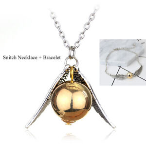 Snitch Wings Necklace + Bracelet Ornaments Xmas Gifts