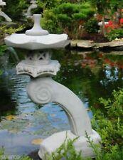 japanische Steinlaterne Rankei S 65 cm Garten Teich Figur Wetterfest Steinguss