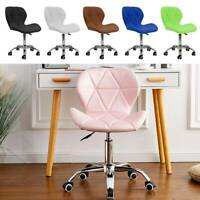 Adjustable Office Chair Cushioned Computer Desk Chrome Legs Small Swivel