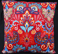 LF811a Teal Red Yellow Green Blue sky Cotton Canvas Cushion Cover/Pillow Cover