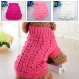 Pet Cat Dog Knitted Jumper Winter Warm Sweater Dog Coat Jacket Chihuahua Clothes