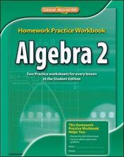 NEW Algebra 2 Homework Practice Workbook Glencoe McGraw-Hill student Book