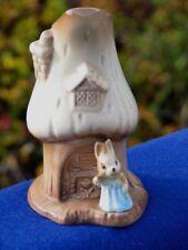 VTG. SylvaC Ceramic Bunny Rabbit Mushroom House Vase  #4791  Pottery  England