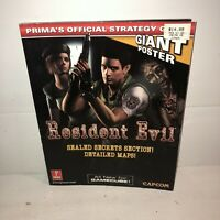 Vintage RESIDENT EVIL GameCube Version Prima's Official Strategy Guide NO POSTER