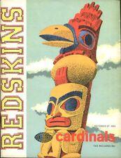 1963 Washington Redskins v St. Louis Cardinals Program 10/27/63 Ex/MT 26843