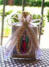 12 recuerdos para Bautizo,boda  ,confirmacion.baptism favor/botellas virgen Gpe.