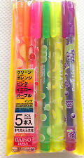 Kawaii 5P SCENTED CRAFT MARKERS Japanese stationery card letter set DECO pens