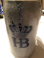 New listing Hb Hofbrauhaus Crown Vintage German 1 L Stein Oktoberfest Stone See Pics