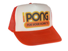 Pong video game hat Trucker hat mesh hat adjustable orange