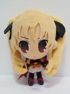 """Fate Testarossa 240801 Magical Girl Lyrical Nanoha Plush 8"""" Toy Doll Japan"""