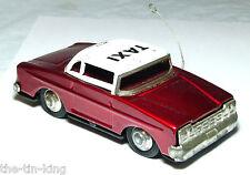 """PLATO de estaño juguete fricción """"Taxi Car"""" Década de 1960 MF 713 hecho en China"""