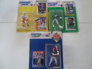 NEW LOT OF 3, KENNER 1993 & 1995, STARTING LINEUP, HOCKEY, BASEBALL, FOOTBALL