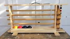 Croquet Set In Original Carrying Storage Rack For Up To 4 Players