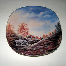 Vintage Arabia Hanging Wall Plate Autumn in Lapland Rantanen-Siewers