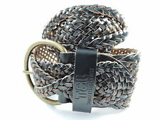 Leather Patternless Belts for Women with Plaited