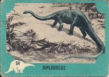 New listing Dinosaur, Nu-Card #54, Diplodocus 1961