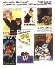 Alexander The Great Commercial Posters - WW II  in 1/35th Scale Europe S026A