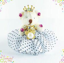 USA Handmade Keychain Charming Cute Bear use Swarovski Crystal Gift Princess key