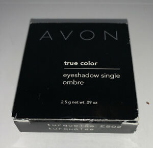 Avon True Color Eyeshadow Single Ombré In Turquoise New In Box Discontinued