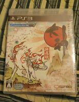NEW PS3 Rare BLACK Label Okami😎 Remastered HD JAPAN PlayStation 3 o-kami Wolf