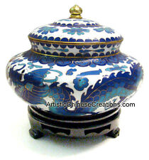 Chinese Hand Crafted Cloisonne Jar: Chinese Cloisonne Jar - Twin Dragons