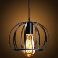 Vintage Industrial Black Metal Cage Light Ceiling Pendant Lamp Shade Fixture E26
