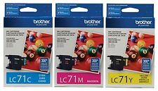 GENUINE Brother LC71 Ink 3 Pack for MFC-J280W MFC-J425W DCP-J525W DCP-725DW