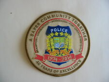 PATCH OF THE REGION OF PEEL POLICE, 40 YEARS, 1974 - 2014, ONTARIO, CANADA