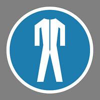 Schutzkleidung benutzen  Aufkleber Sticker Schild Hinweis Verbotsschild