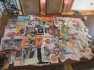 OLD SPORTS lot MAGAZINES TICKETS PROGRAMS BUTTONS BASEBALL FOOTBALL BASKETBALL +