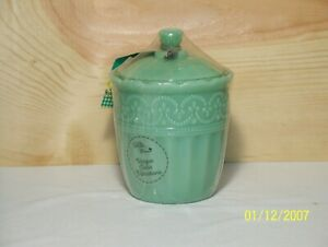 The Pioneer Woman Timeless Beauty Jadeite Sugar Bowl New