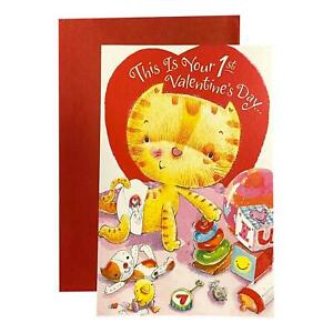 Valentine's Day Greeting Card for Grand daughter - This Is Your 1st Valentine's