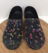 Dansko Felt Pro Women's Size 39 US 8 Charcoal Multi Colored Professional Clogs