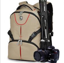DSLR SLR Cámara Mochila Objetivo Bolsa Funda Para Nikon Canon Sony+Funda Lluvia
