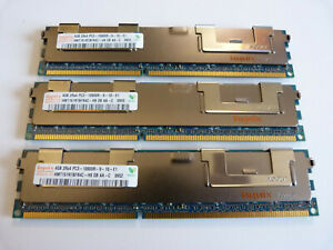 3x 4GB Hynix HMT151R7BFR4C-H9 DB AA 12GB DDR3 1333MHz PC3-10600R ECC Server RAM