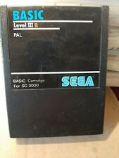 BASIC LEVEL III B PAL SEGA SC3000 SC 3000 SG1000 SG 1000 RARE