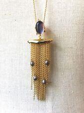Alexis Bittar Mop Pearl Tassel  Necklace