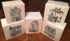 Dept 56 - Heritage Village Set (5) Merchant Shoppe Set 5926-9