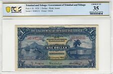 Trinidad & Tobago 1939 1 Dollar PCGS Banknote Certified Choice VF 35 Pick 5b