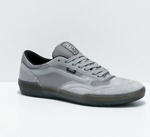 Mens Vans Ave Pro Suede Skate Shoes Sneakers Reflective Gray Grey Black A.V.E.