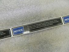 OE Sticker For C5 Corvette Roof Frame Warning Label Panel Top 1997-2004