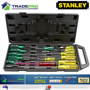 Stanley 14pce Screwdriver Set in Carry Case PRO 14pc Screw Driver Kit 1222520